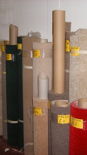 Large stock of carpets