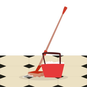 Mopping Vinyl Flooring